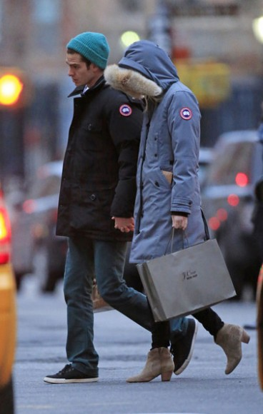 And a bonus pic of the 'Spiderman' couple rocking Canada Goose