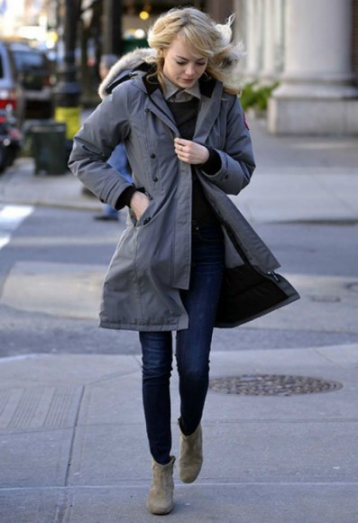 Emma Stone is a fan! Here she is again wearing the Canada Goose Kensington Parka