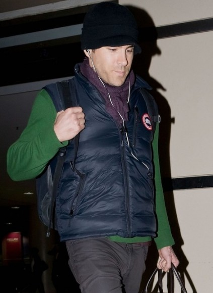 Ryan Reynolds knows how to keep warm with the Canada Goose Lodge Down Vest