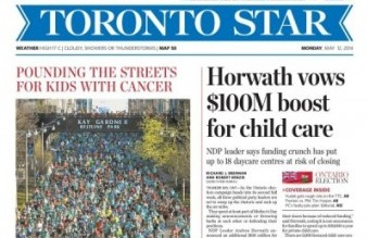 Toronto Star Front Page May 12 2014