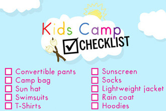 Kids Camp Checklist