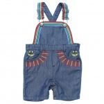 Stella McCartney Kids Baby Girls' [3-24M] Rainbow Embroidered Denim Overalls