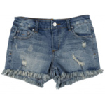 Tractr Junior Girls' [7-14] 5-Pocket Fray Hem Short
