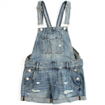 BlankNYC Women's Distressed Short Overall