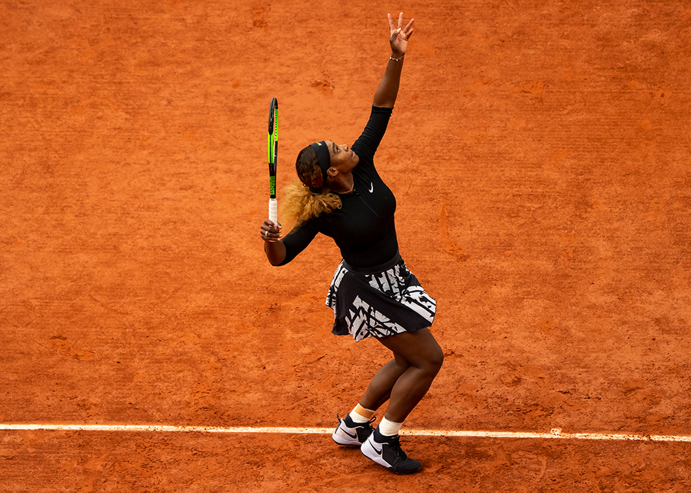 Serena Williams at the 2019 French Open. (Photo by TPN/Getty Images, provided by Wilson)